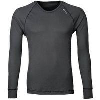 Odlo  cubic bielizna górna mężczyźni czarny xl koszulki bazowe z długim rękawem (7612860847485)