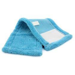 Mop płaski niebieski kieszeniowy mikrofibra 40 cm