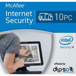 McAfee Internet Security 2017 10 PC licencja na rok z kategorii Programy antywirusowe, zabezpieczenia