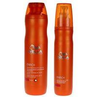 enrich zestaw nawilżający do włosów grubych | szampon 250ml + leave-in balm 150ml marki Wella