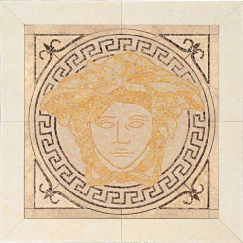 PALACE LIVING Rosoni Medusa in ceramica Oro/Beige 41x41 (P81) (glazura i terakota) od 7i9.pl Wszystko  Dla Dom