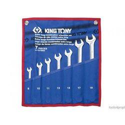 ZESTAW KLUCZY PŁASKO-OCZKOWYCH WYDŁUŻONYCH 7cz. 8 - 19mm King Tony 12C7MRN