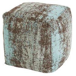 Qazqa Vintage kwadratowy puf turkusowy 45 x 45 x 45cm - kochi