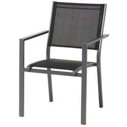 Krzesło Blooma Barbana aluminiowe czarne (3663602424284)