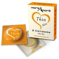 Cieniutkie prezerwatywy Condom Thin Skin 3 sztuki