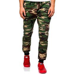 Moro-khaki spodnie dresowe joggery męskie Denley 0724, kolor zielony
