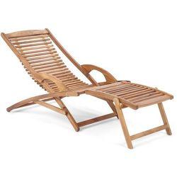 Leżak ogrodowy drewniany składany Akacja (5904730242332)