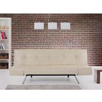 Rozkładana sofa beżowa ruchome podłokietniki BRISTOL, kolor beżowy