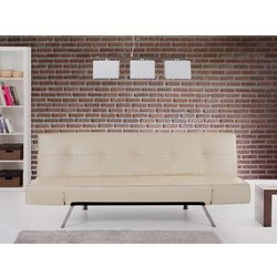Rozkładana sofa beżowa ruchome podłokietniki BRISTOL - sprawdź w wybranym sklepie