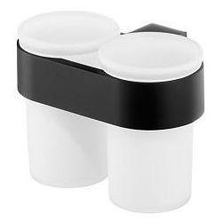Szklanka podwójna kolekcji futura black 02960 marki Bisk
