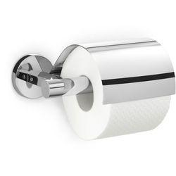 Zack - Uchwyt na papier toaletowy z pokrywą Scala - stal nierdzewna polerowana