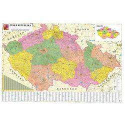 Mapa administracyjna Czech (mapa szkolna)