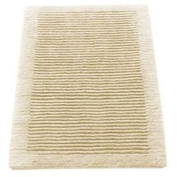 Dywanik łazienkowy  ręcznie tkany 60 x 60 cm kremowy marki Cawo