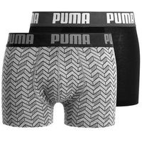 Puma BASIC GRAPHIC PRINT 2 PACK Panty grey melange/black, S-XL