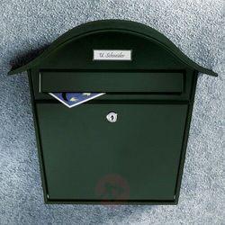 Zielona skrzynka na listy HOLIDAY ze stali