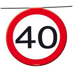 Baner flagi Znak zakazu 40tka - 12 m - 1 szt.