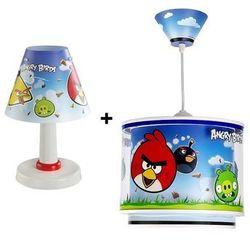 6088 - sada lampa stołowa + żyrandol angry birds wyprodukowany przez Klik