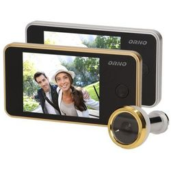 """Kamera do drzwi, WIZJER, JUDASZ, monitor LCD 3,2"""", srebrny, OR-WIZ-1104/G (5901752487925)"""