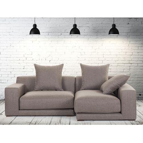 Sofa narozna L - tapicerowana - piaskowa - CLOUD - produkt dostępny w Beliani