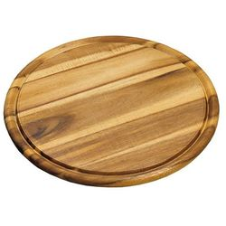 Kesper Okrągła deska do krojenia z drewna akacjowego, drewniana deska do krojenia, deska okrągła, deska do