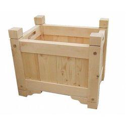 Drewniana prostokątna donica ogrodowa 15 kolorów - Romos, Donica-drewniana-nr-10