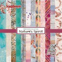 Ozdobny papier nature`s spirit 15x15 cm - zestaw marki Scrapberrys