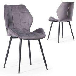 Krzesło tapicerowane z metalowymi nogami ▪️ hagen (dc-6300) ▪️ welur szary 21 marki E-lozka