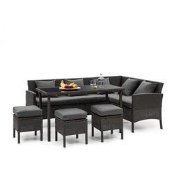 Blumfeldt titania dining lounge set komplet mebli ogrodowych, czarny/ciemnoszary