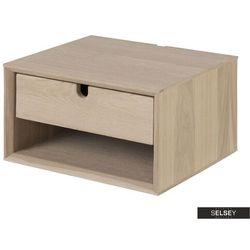 Selsey szafka nocna wisząca kastav dąb z jedną szufladą (5903025472201)
