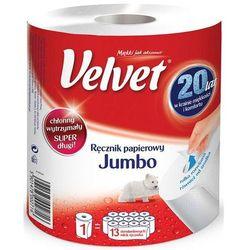 Velvet Ręcznik w roli celulozowy jumbo 2-warstwowy 500 listków biały