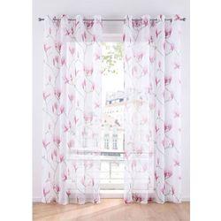 "Firana ""Mariella"" (1 szt.) bonprix biało-jasnoróżowy, kolor różowy"