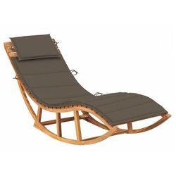 Bujany leżak ogrodowy z litego drewna taupe - Afis 3X