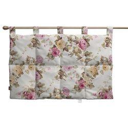 wezgłowie na szelkach, różowe róże na jasnym tle, 90 x 67 cm, mirella marki Dekoria