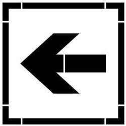 Szablon do malowania Znak kierunek ewakuacji AA013 - 85x85 cm