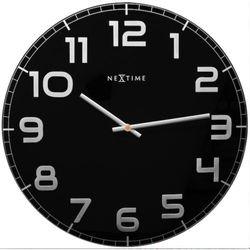 Nextime:: Zegar Ścienny Classy Large ø 50cm Czarny