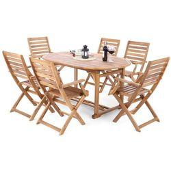 Home&garden Meble ogrodowe drewno akacja oval cross