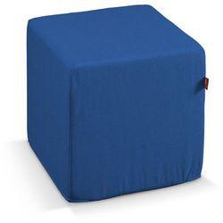 pufa kostka twarda, niebieski, 40x40x40 cm, jupiter marki Dekoria