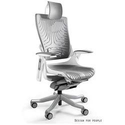 Fotel ergonomiczny biały WAU 2 Elastomer - Szary, Napisz otrzymasz rabat!