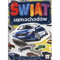 Minialbum z naklejkami - Świat samochodów + zakładka do książki GRATIS, oprawa broszurowa