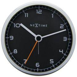 - zegar stojący company alarm - czarny marki Nextime