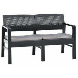 Elior Szara ławka ogrodowa z poduszkami - hilda