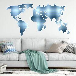 Szablon do malowania mapa świata 05