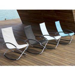 Krzesło ogrodowe błękitne tekstylne składane CASTO (7105278562946)