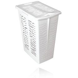 BRANQ KOSZ NA BIELIZNĘ ZEBRA 30L - Biały z kategorii Kosze na pranie
