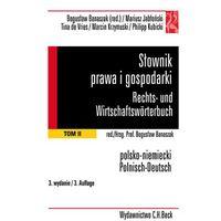 Słownik prawa i gospodarki. Rechts- und Wirtschaftswörterbuch. Tom 2 - Wysyłka od 3,99, książka w oprawie