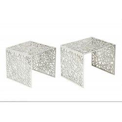 Invicta zestaw stolików abstract srebrny - aluminium marki Sofa.pl