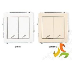 Wyłącznik schodowy podwójny KARLIK DECO biały, beżowy (świetlówka)