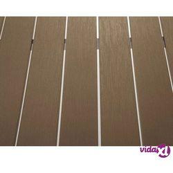 Beliani aluminiowe meble ogrodowe brązowe vernio (7081454635768)