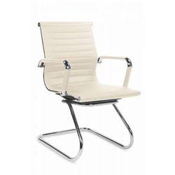 Fotel gabinetowy Halmar Prestige Skid kremowy