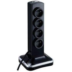 Przedłużacz 8 x 16 a 3 x 1,5 mm2 2 x usb 2 m czarny marki Masterplug
